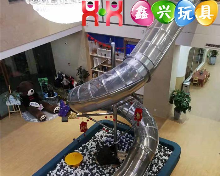 定制不锈钢滚筒滑梯