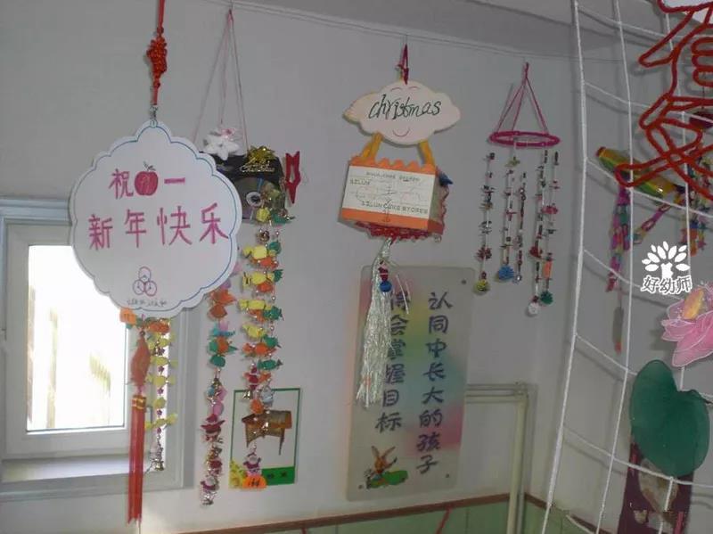 2017年幼儿园元旦教室装扮图片,主题墙,窗饰和门饰方案