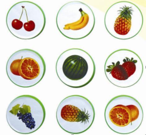 水果仿真演示磁性教具箱
