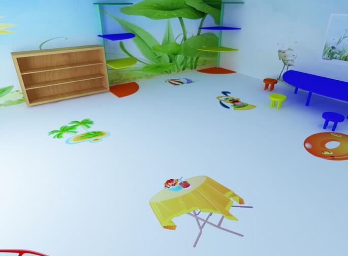 幼儿园彩绘地板