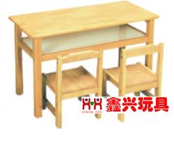 实木带斗桌