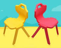 超大号塑料儿童椅