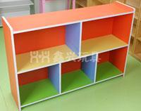 儿童五格柜-彩色五洞玩具柜