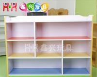 儿童七格柜子-幼儿园多功能置物架